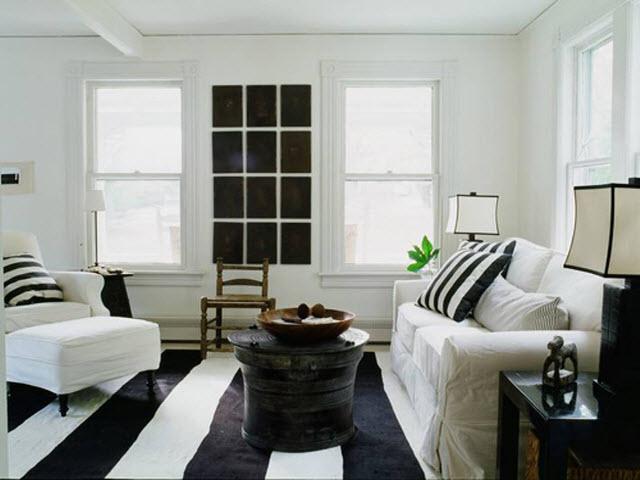 decoracao sofa branco:preto e o branco garantem elegância à decoração – Agente Imóvel