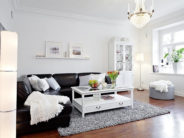 decorar sala branca:preto e o branco garantem elegância à decoração – Agente Imóvel