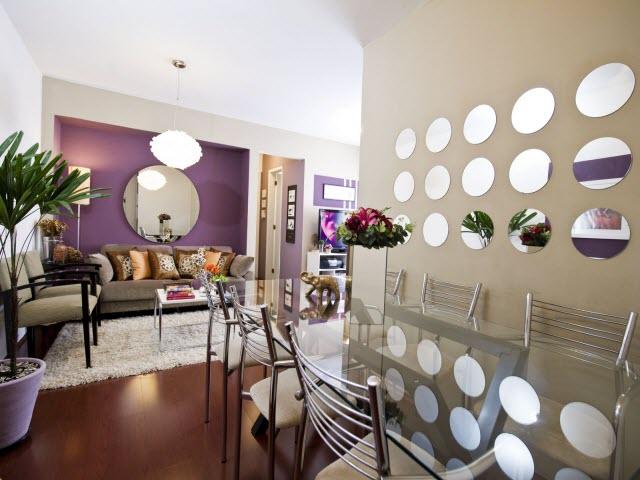 decoracao de sala lilas : decoracao de sala lilas:Em detalhes ou como o destaque de um ambiente, os espelhos deste