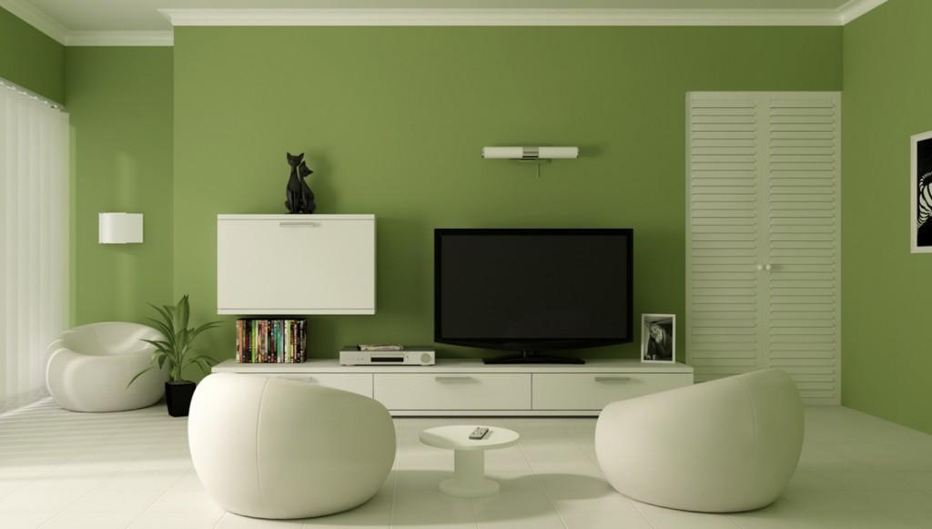 verde, combinado com o branco, garante um efeito mais tranquilo e