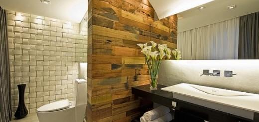Para deixar o banheiro ainda mais bonito, é possível recorrer às plantas, que garantem o frescor e a energia do local | Foto: Pontto Lavabo.