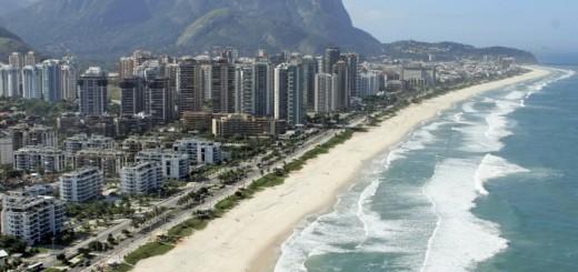 Vista da praia da Barra da Tijuca.