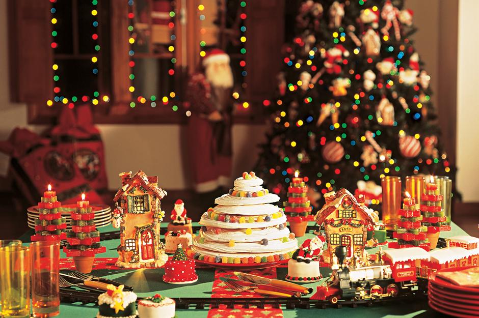 Ceia de natal dicas de decora o agente im vel - Mesa de navidad decorada ...