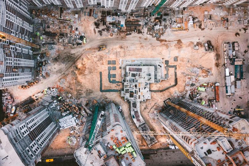 imagem aérea de construção