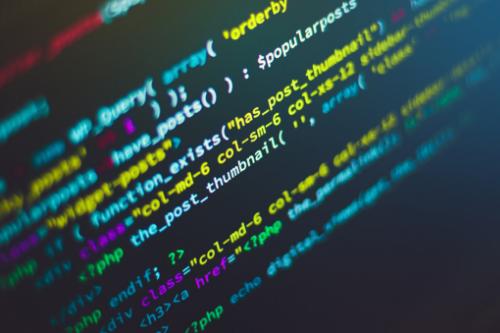 Imagem de um sistema ou softwares com vários dados