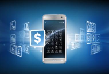 Um celular com opções relacionadas a vendas e compras