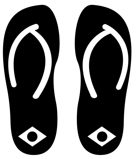 Figura de sandálias havaianas