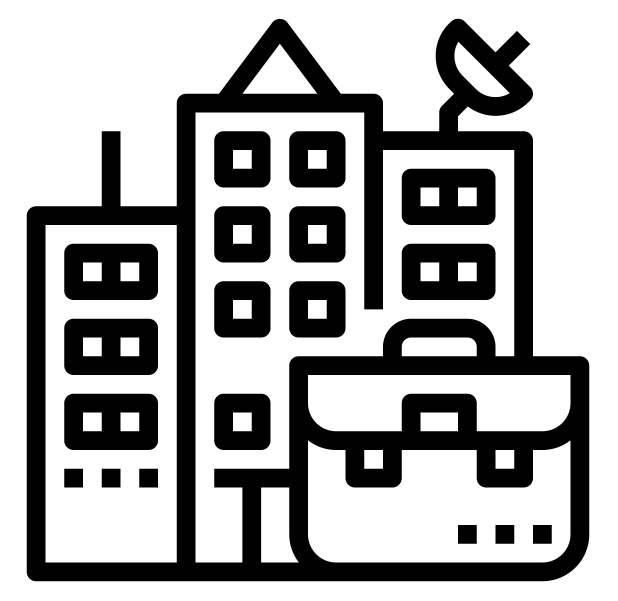 figura simbolizando prédios comerciais